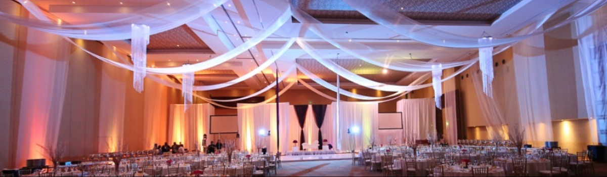 Strategically placed up-lights will highlight your venue´s features such as columns pillars accent walls and palm trees to really make them pop. & Ambient Lighting - PLUG IN AUDIOVISUAL