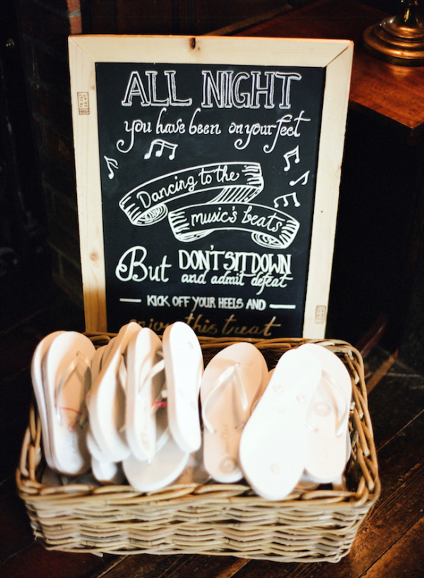 Wedding Flip Flops for Dancing